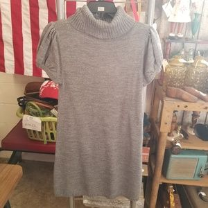 Sweater Project Dresses - Sweater Project Grey Argyle Sweater Dress Tunic